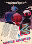 Marble Madness 1985 magazine ad