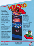 Wacko arcade flyer - Back