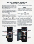 Qix arcade flyer - Inside Right