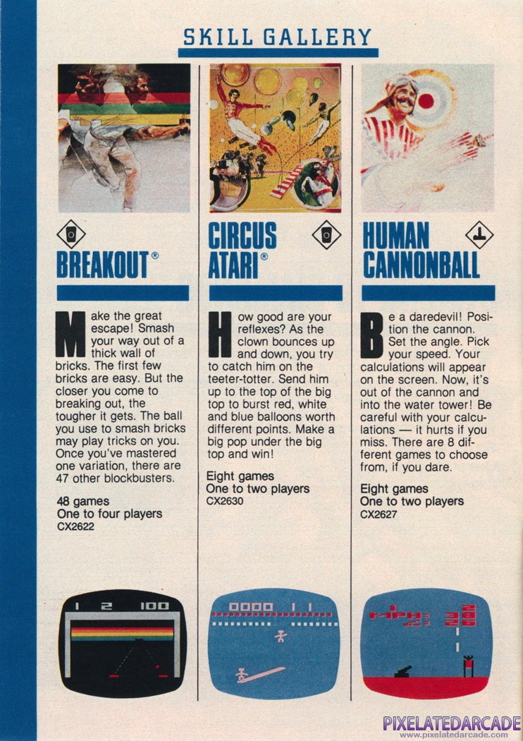Breakout Advertisement: Atari 1982 product catalog