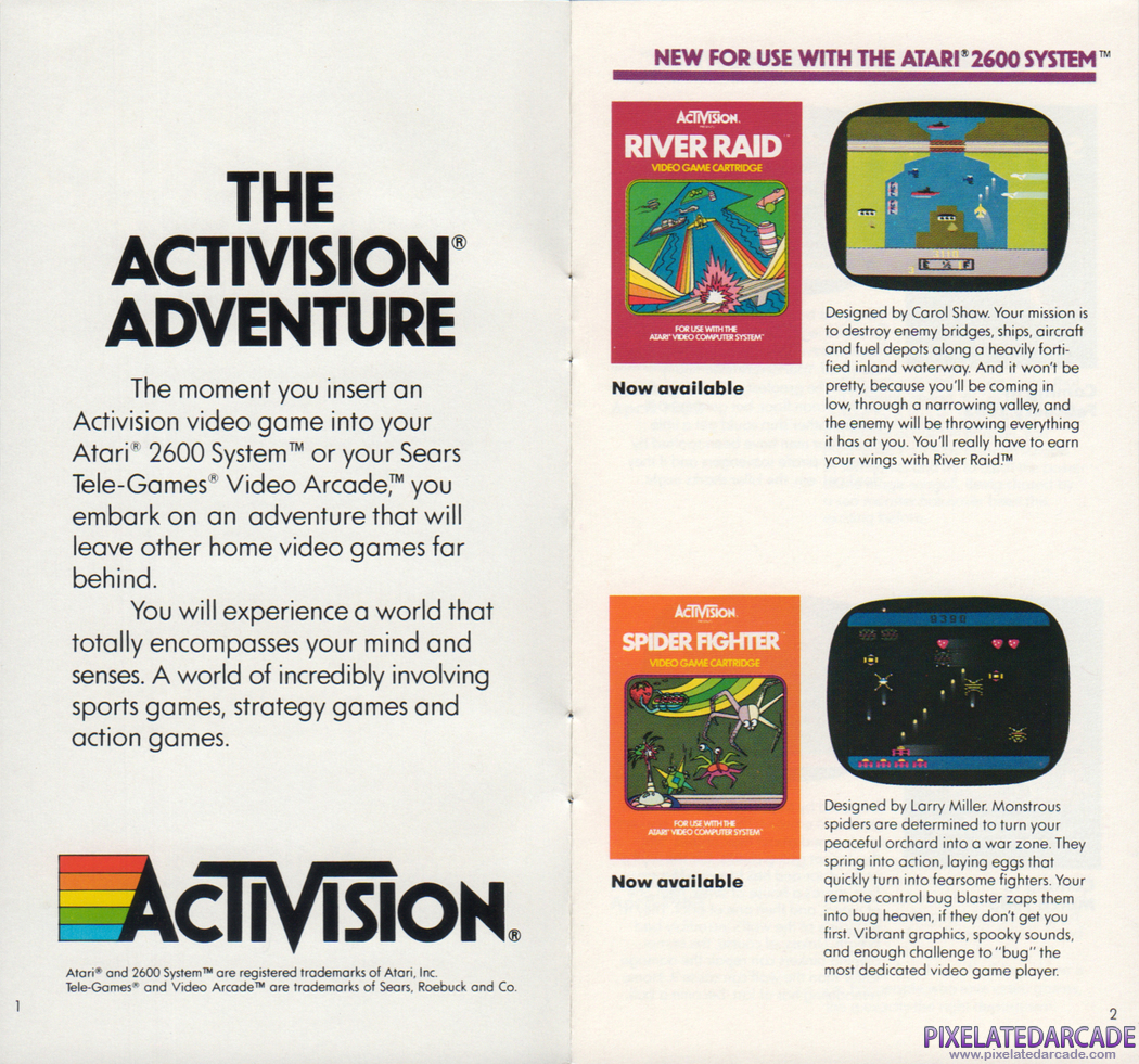 River Raid Advertisement: Activision Winter/Spring 1983 product catalog