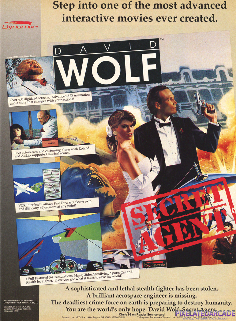 David Wolf: Secret Agent Advertisement: December 1989 magazine ad
