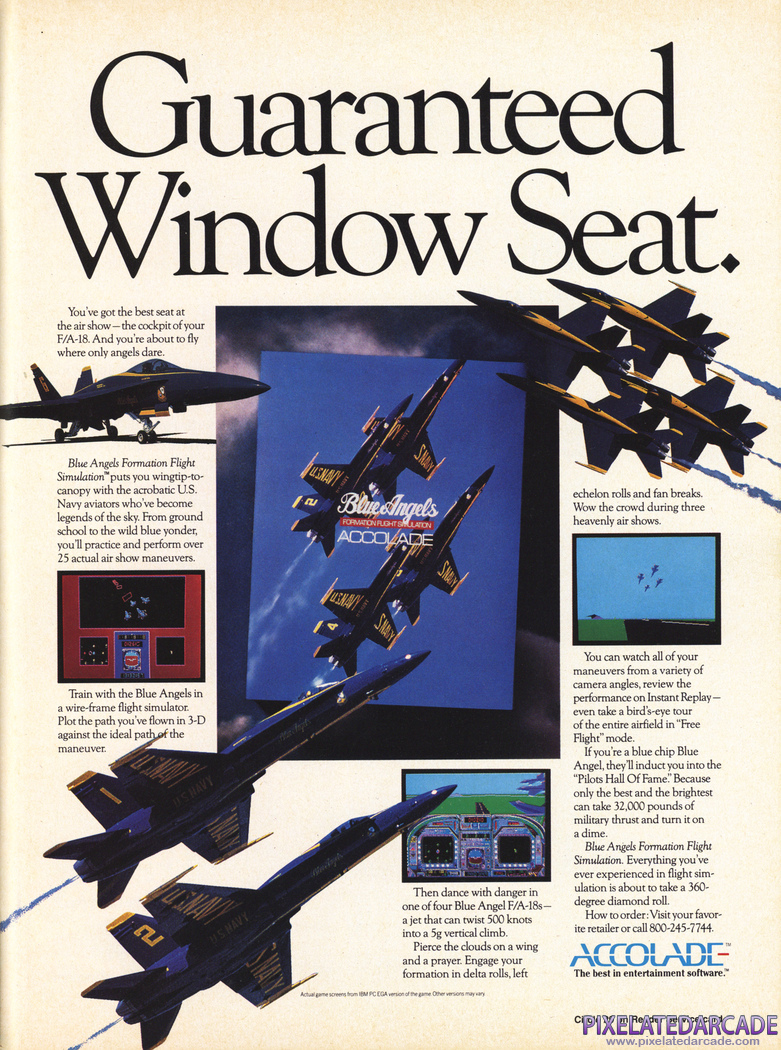 Blue Angels: Formation Flight Simulation Advertisement: December 1989 magazine ad