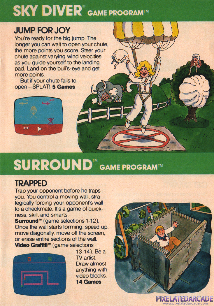 Surround Advertisement: Atari Video Computer System product catalog