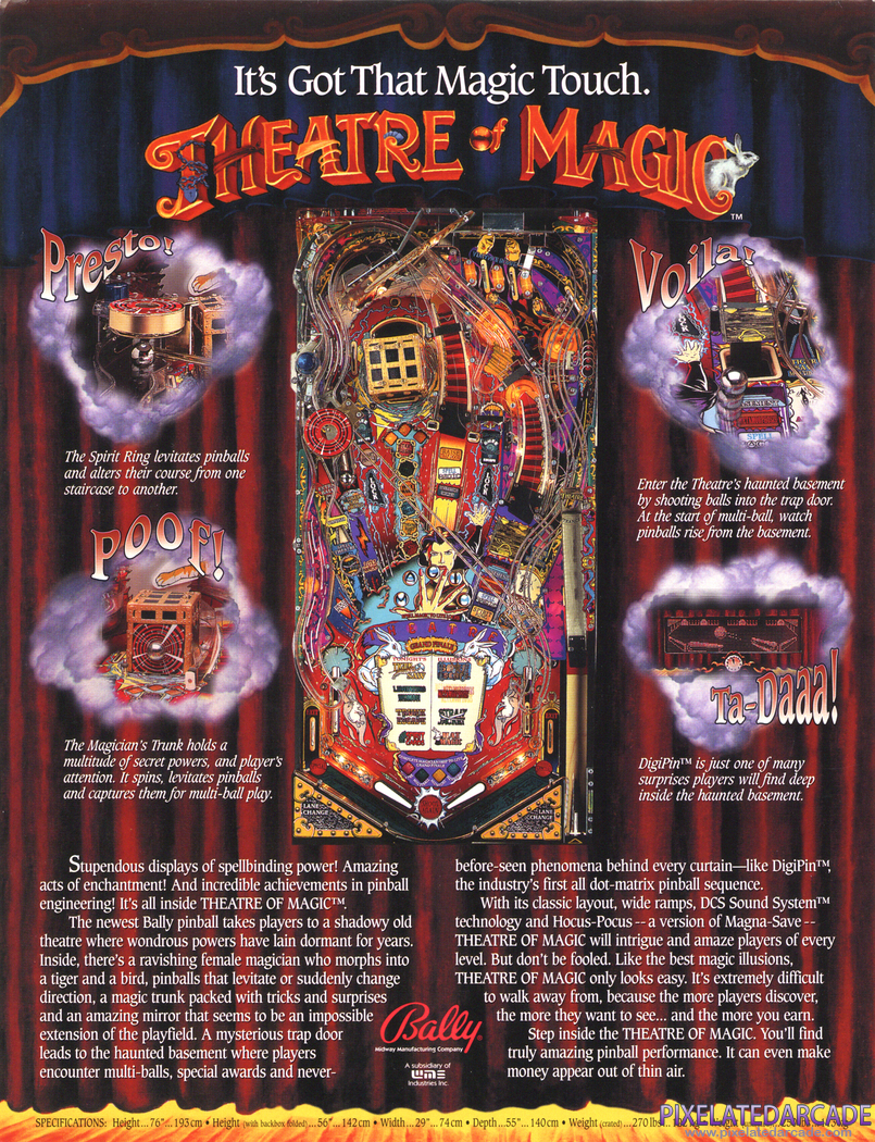 Theatre of Magic Advertisement: Theatre of Magic flyer - Back