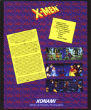 X-Men flyer - Back