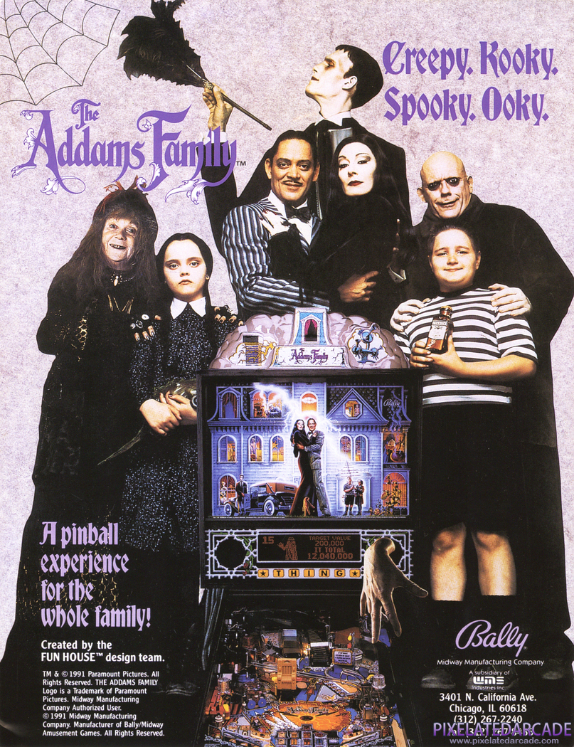 Addams Family, The Advertisement: The Addams Family flyer - Front