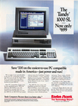 Tandy 1000 SL - April 1989 magazine ad