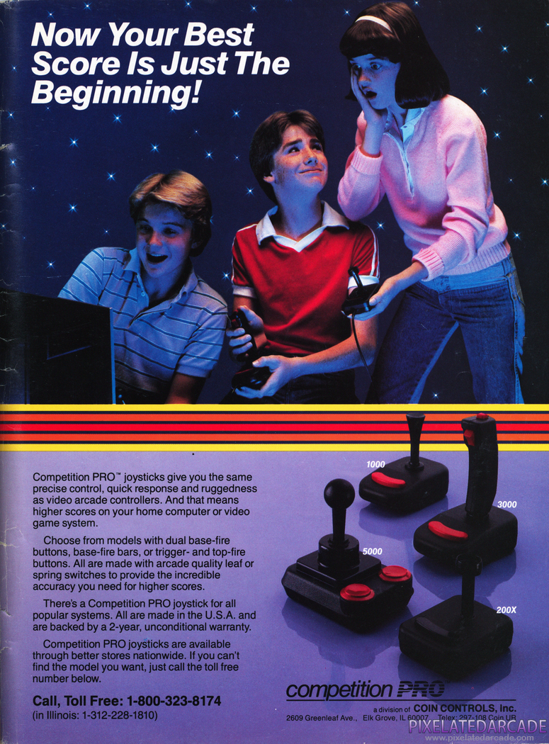 Joystick Advertisement: Competition PRO - 1984 magazine ad