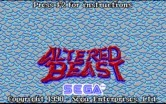 Altered Beast for IBM PC/Compatibles - Title screen 2.