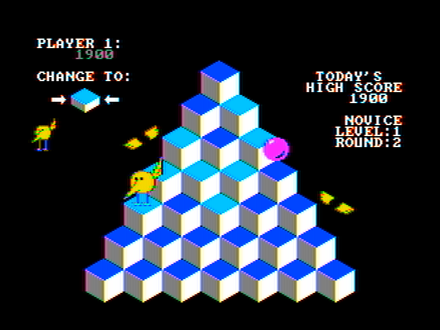 J-Bird IBM PC/Compatibles Screenshot: Level two; don't get hit by the falling purple balls!