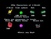 J-Bird for IBM PC/Compatibles - The cast of characters in J-Bird.