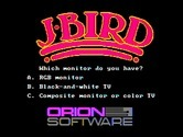 J-Bird for IBM PC/Compatibles - Monitor type selection.