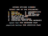 J-Bird for IBM PC/Compatibles - Additional game options.