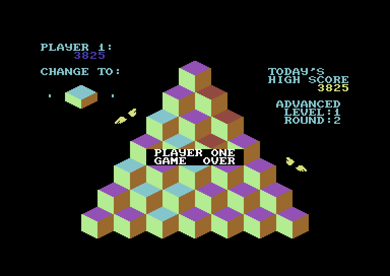 J-Bird Commodore 64 Screenshot: Game over.