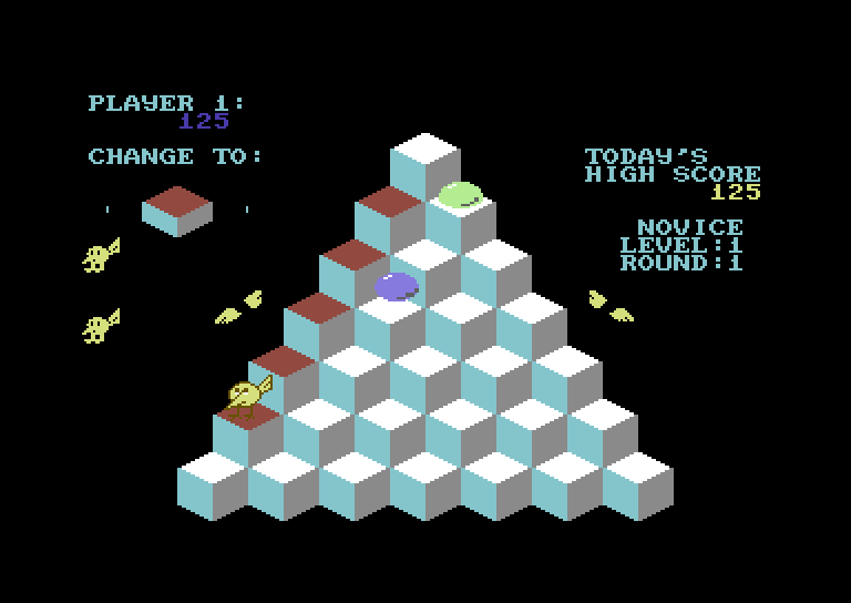 J-Bird Commodore 64 Screenshot: Avoid the blue ball, but the green one is safe to touch...