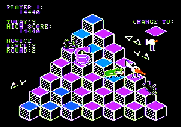 J-Bird Apple II Screenshot: On a collision course with a cat...that can't be good!