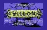 Willow for Commodore 64 - Title screen.