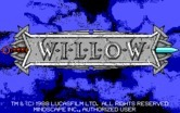 Willow for IBM PC/Compatibles - Title screen.