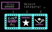 3-K Trivia for IBM PC/Compatibles - Time to select a category.