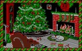 Jingle Disk for IBM PC/Compatibles screenshot thumbnail - A cat sleeps by the fire...