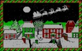 Jingle Disk for IBM PC/Compatibles screenshot thumbnail - Santa's sleigh departs.