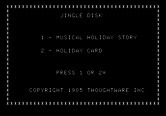 Jingle Disk for Apple II screenshot thumbnail - Jingle Disk main menu.