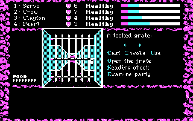 Dark Heart of Uukrul, The IBM PC/Compatibles Screenshot: How do I get past this grate?