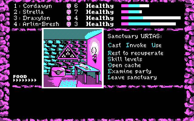 Dark Heart of Uukrul, The IBM PC/Compatibles Screenshot: In a sanctuary.