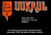 Dark Heart of Uukrul, The for Apple II - The main menu.