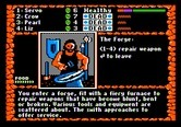 Dark Heart of Uukrul, The for Apple II - The forge can repair weapons...