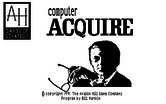 Computer Acquire for IBM PC/Compatibles - Title screen.