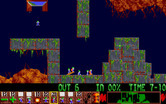 Lemmings for Amiga - Lemmings mayhem! Better think quick before your lemmings are squashed.