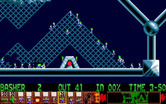 Lemmings for Amiga - More walls to bash through!