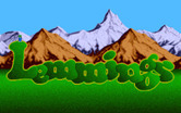 Lemmings for Amiga - Title screen.