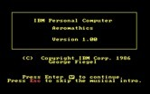 Aeromathics for IBM PC/Compatibles screenshot thumbnail - Title screen.