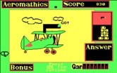 Aeromathics for IBM PC/Compatibles screenshot thumbnail - Starting a new problem; found part of the numbers.