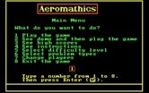 Aeromathics for IBM PC/Compatibles screenshot thumbnail - The main menu.