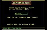 Aeromathics for IBM PC/Compatibles screenshot thumbnail - What is your name?