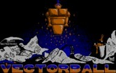 Vectorball for IBM PC/Compatibles - Title screen.