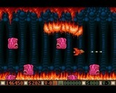 Blood Money for Amiga - Flames and other monsters attack here.