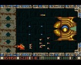 Blood Money for Amiga - The first end of level boss.