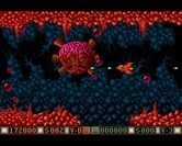 Blood Money for Amiga - The end of level boss for the fourth world.