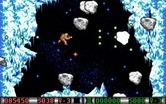 Blood Money for IBM PC/Compatibles - Avoid asteroids in this vertically scrolling section.
