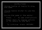 Magic Spells for Apple II screenshot thumbnail - Game instructions.