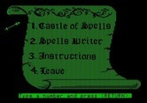 Magic Spells for Apple II screenshot thumbnail - The main menu.