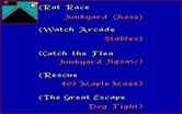 All Dogs Go to Heaven for Amiga - You can also choose to play the mini-games individually...