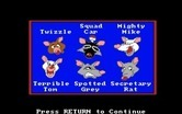All Dogs Go to Heaven for Amiga screenshot thumbnail - Here's some of the characters...