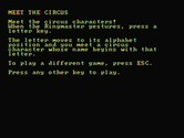 Alphabet Circus for IBM PC/Compatibles - Meet the circus!