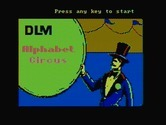 Alphabet Circus for IBM PC/Compatibles screenshot thumbnail - Title screen.
